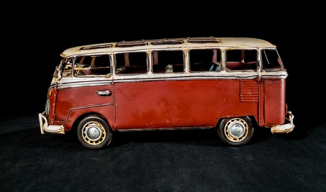 Sheet metal car model car vw bus.