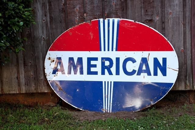 Shield street sign usa.