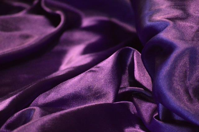 Shiny purple silk.
