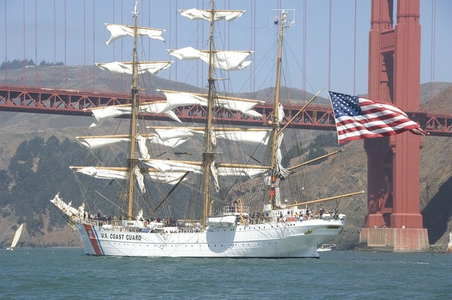 Ship cutter three masted, travel vacation.