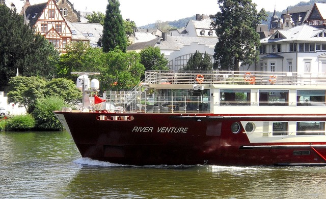 Ship mosel river venture, travel vacation.