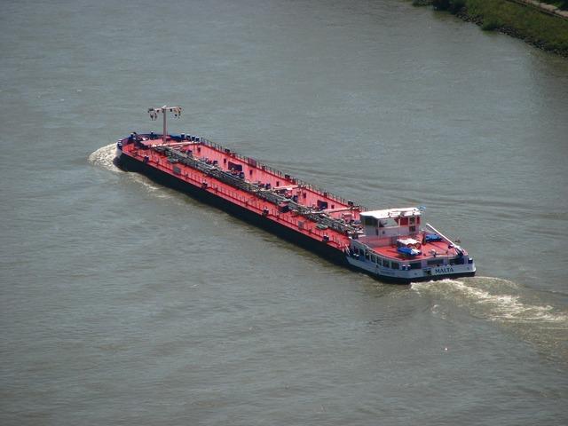 Ship rhine river, transportation traffic.