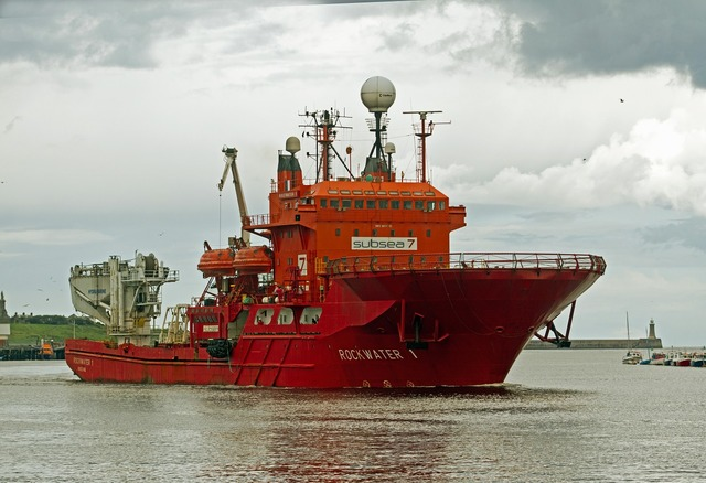 Shipping river tyne rig vessel.