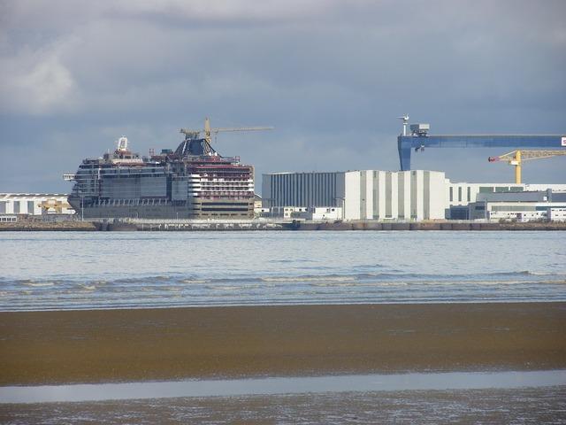 Shipyard ship cargo, transportation traffic.