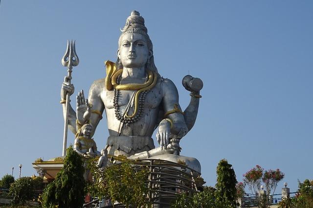 Shiva lord statue, religion.