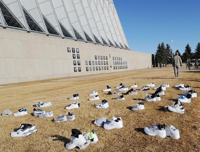 Shoes building air force academy, architecture buildings.