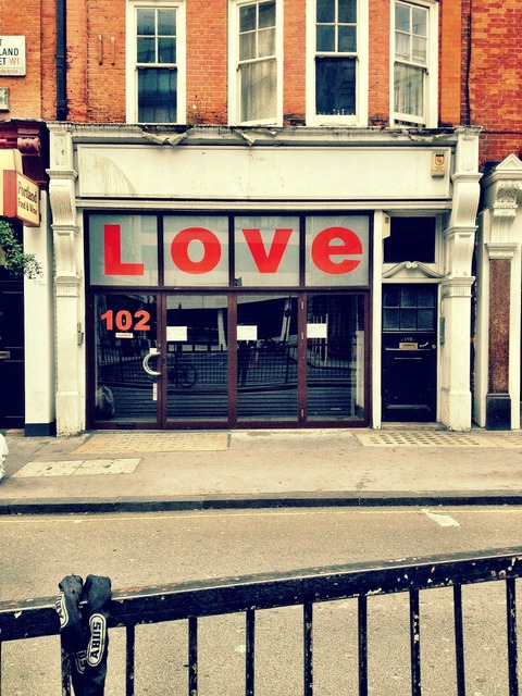 Shop love sign, emotions.