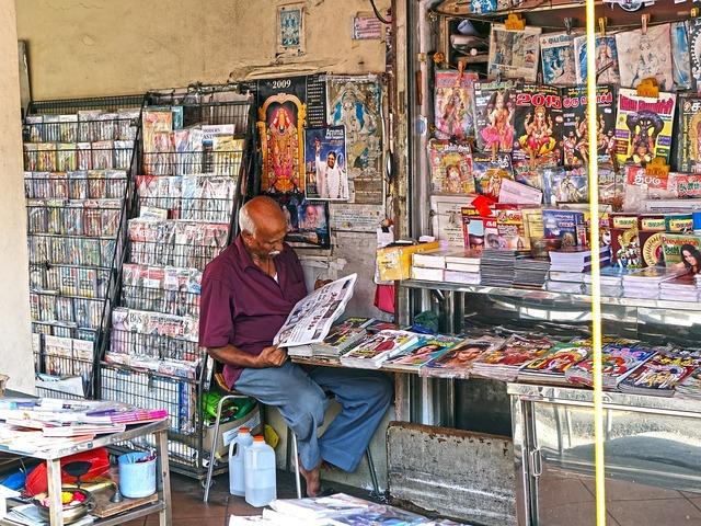 Shop vendor magazine, people.