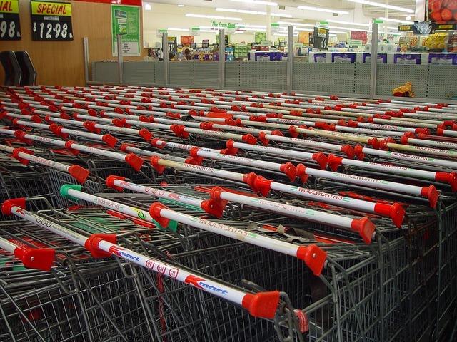 Shopping cart trolleys shopping.