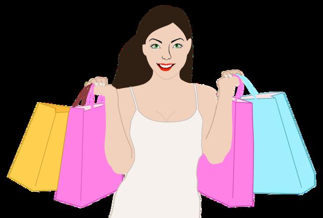 Shopping woman girl, beauty fashion.