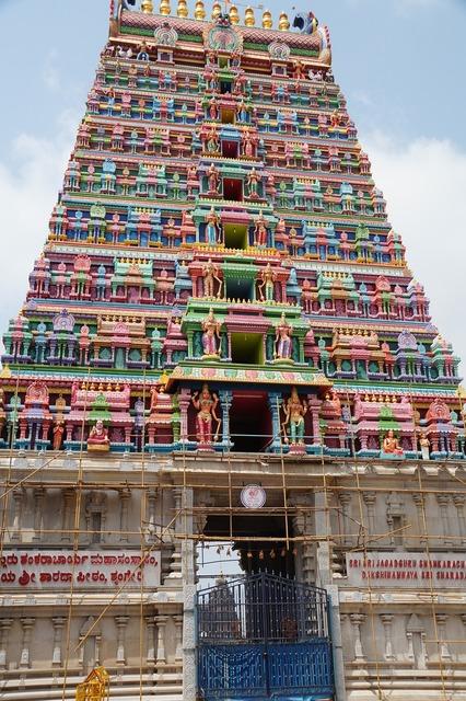 Shringeri gate temple, religion.