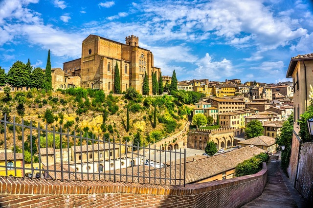 Siena tuscany italy, architecture buildings.