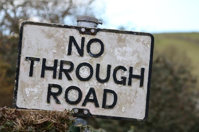 Sign no through road road sign, transportation traffic.