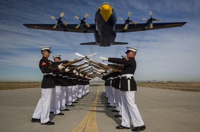 Silent drill platoon marine corps fat albert.