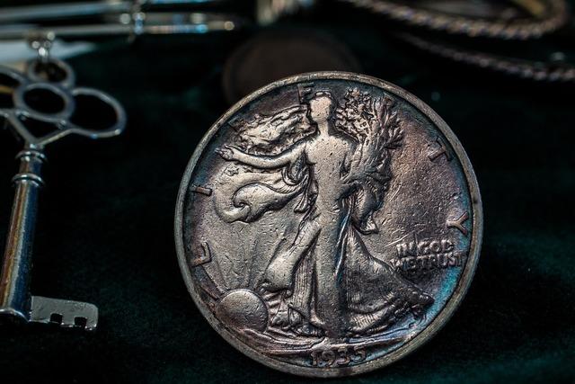 Silver coin silver dollar usa.