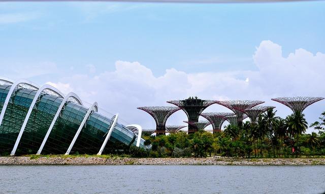 Singapore gardens bay sky, architecture buildings.