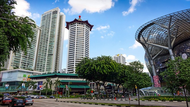 Singapore orchard road tourist spot, travel vacation.