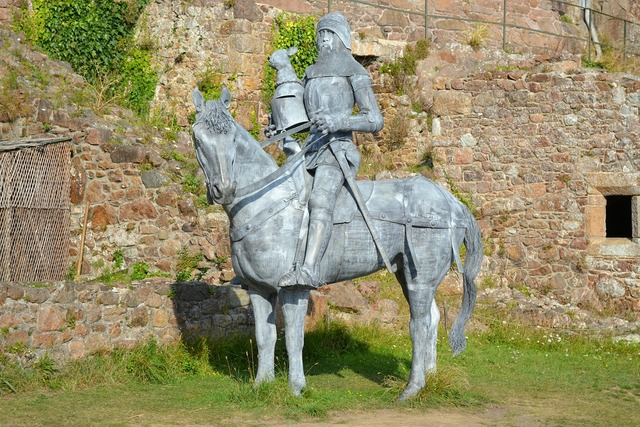 Sir hugh calveley sculpture knight on a charger.