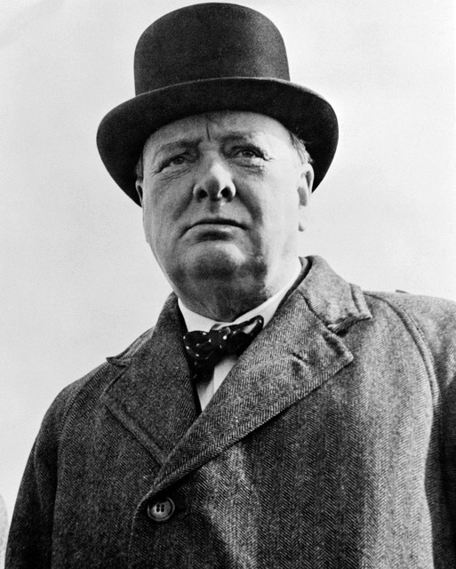 Sir winston churchill british prime minister.
