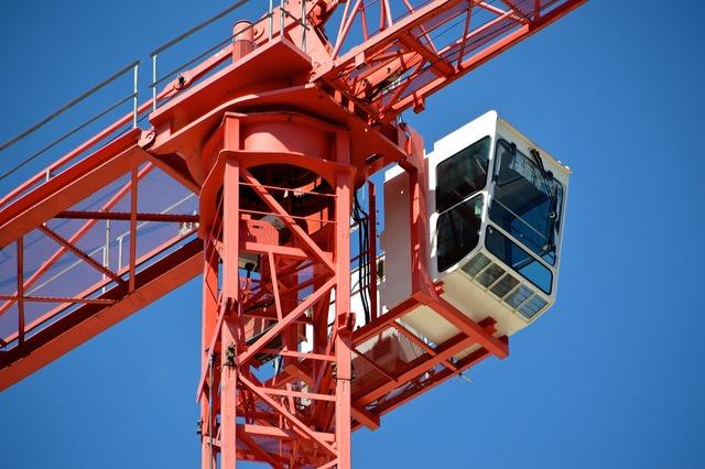 Site building construction crane.