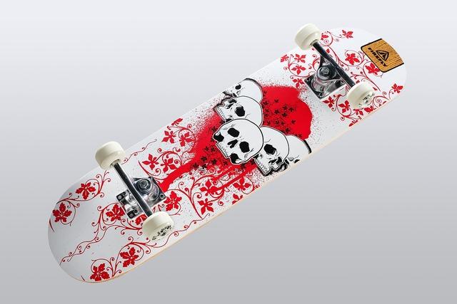 Skateboard move roll, sports.