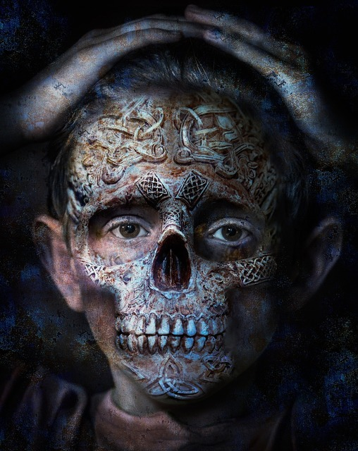 Skull photo manipulation bone.