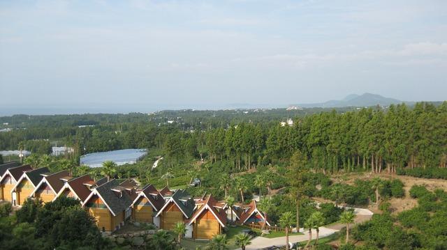 Sky jeju korea, architecture buildings.