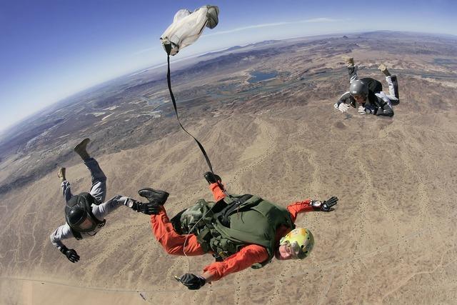 Skydive parachute parachuting, nature landscapes.