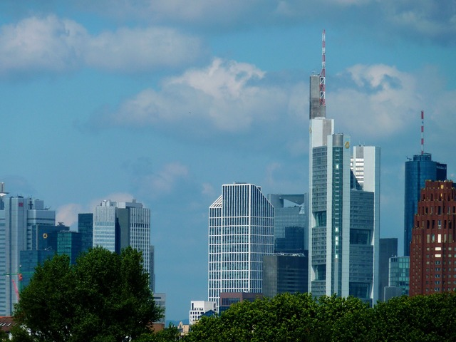 Skyline ffm frankfurt, architecture buildings.