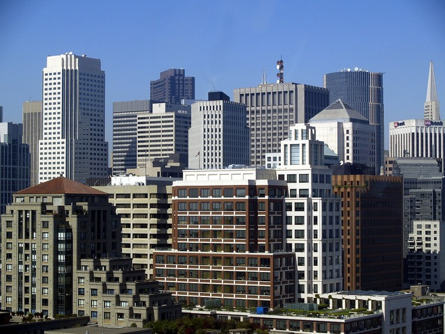 Skyline san francisco california, architecture buildings.
