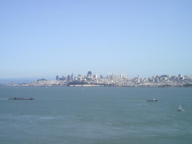 Skyline sea san francisco.
