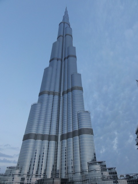 Skyscraper dubai emirates, architecture buildings.