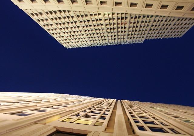 Skyscraper facade building, architecture buildings.