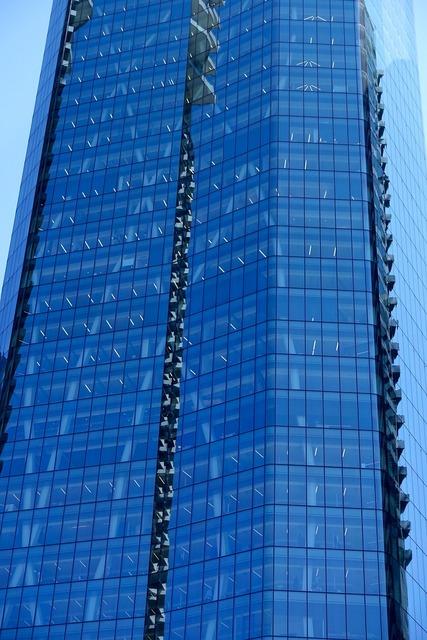 Skyscraper glass office building exterior, architecture buildings.
