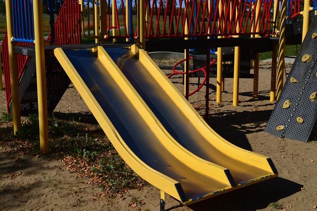 Slide playground park.