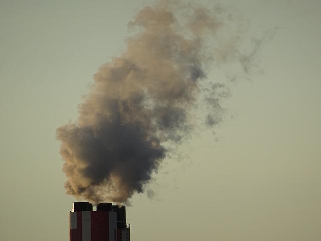 Smoke chimney pollution, industry craft.