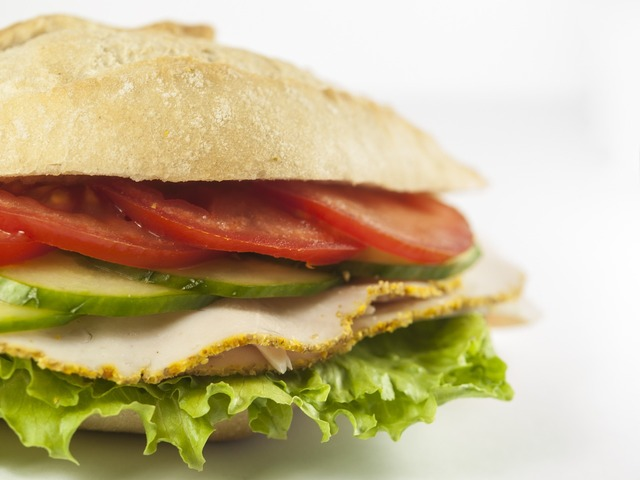 Snack baguette eat, food drink.