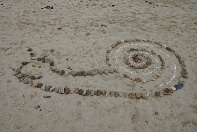 Snail beach stones, travel vacation.