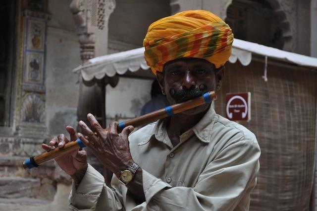 Snake charmer india flute.