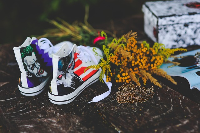 Sneakers painted awesome.