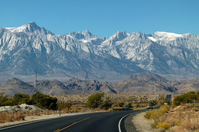 Snow capped mountains sierra nevada, nature landscapes.