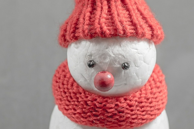 Snow man winter cap, backgrounds textures.