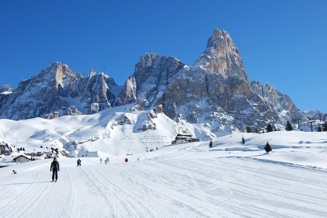 Snow mountain mountains, nature landscapes.