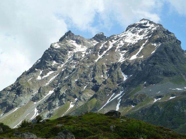Snow mountain silvretta, nature landscapes.