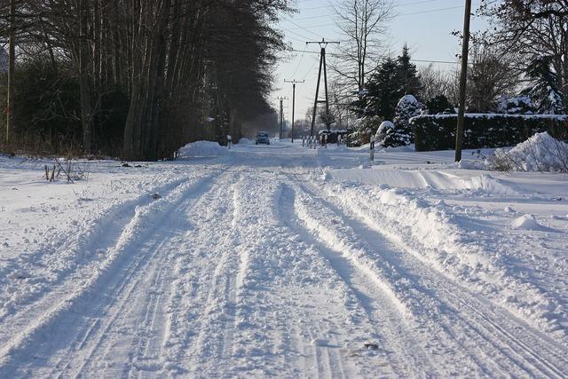 Snow road winter service, transportation traffic.
