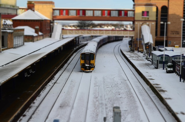 Snow train station.