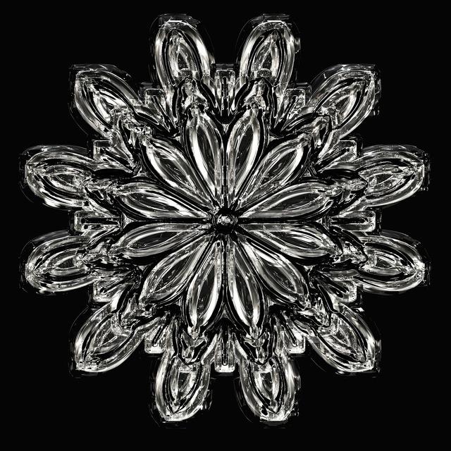 Snowflake ice crystal ice.