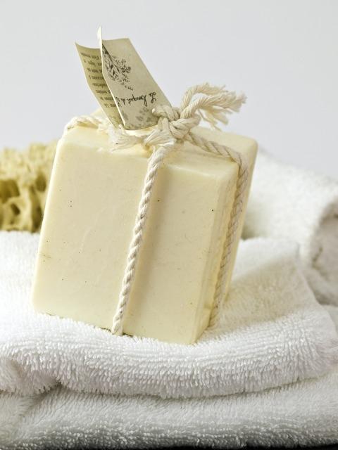 Soap natural cosmetics wash.