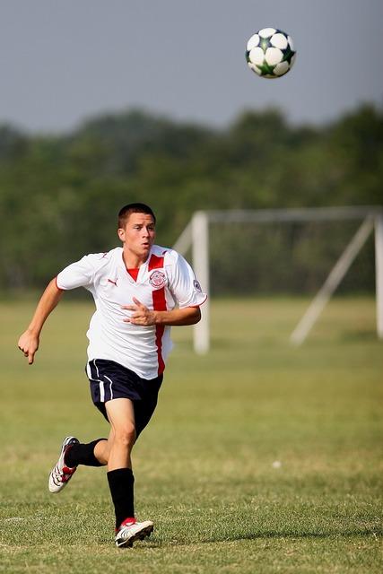 Soccer ball kick, sports.