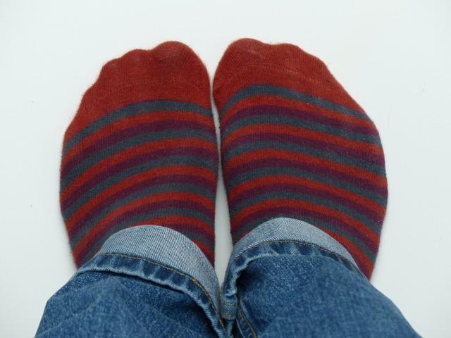 Socks stockings red.